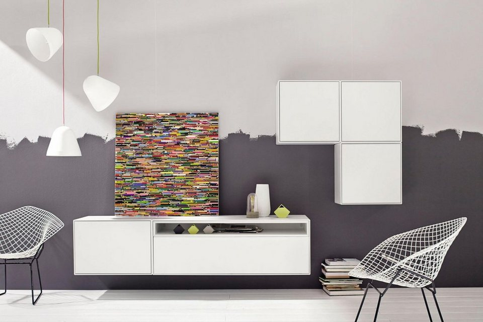 now by h lsta wohnwand now easy 5 tlg alle elemente h ngend online kaufen otto. Black Bedroom Furniture Sets. Home Design Ideas