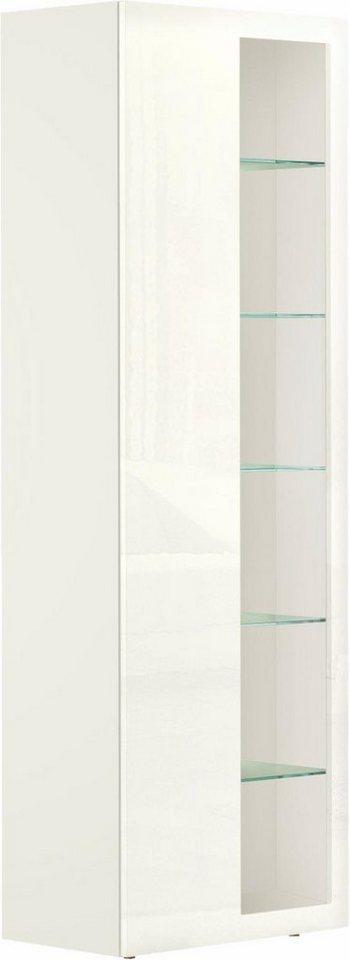 now! by hülsta Vitrine »now! vision« mit Glasausschnitt, Höhe 213 cm in Lack weiß