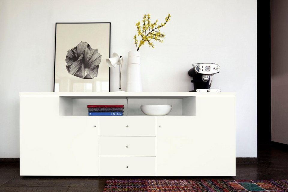 by h lsta sideboard now time breite 190 cm online kaufen otto. Black Bedroom Furniture Sets. Home Design Ideas