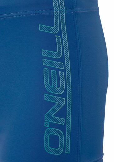O'Neill Boxer-Badehose mit Logoprint