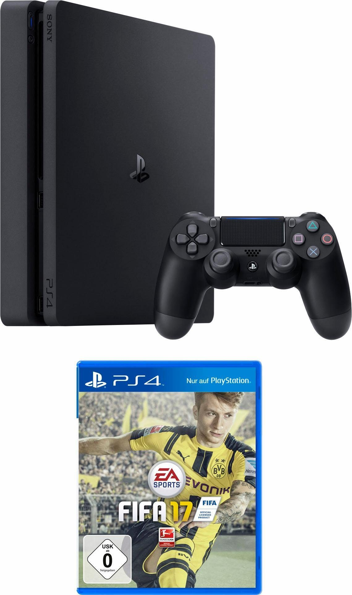 PlayStation 4 (PS4) 500GB Slim + Fifa 17