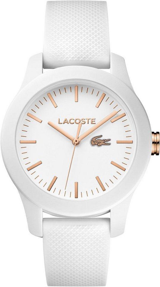 Lacoste Quarzuhr »LACOSTE.12.12 LADIES, 2000960« in weiß
