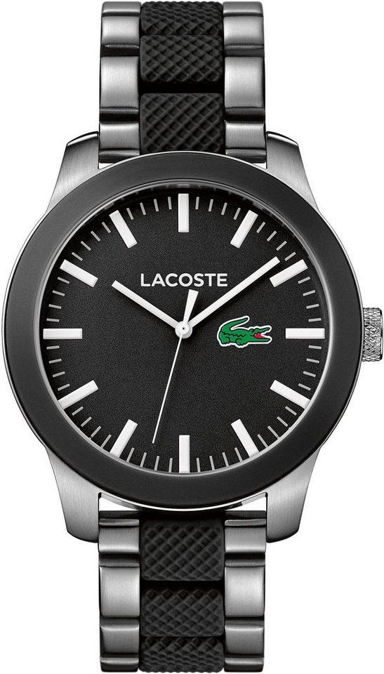 Lacoste Quarzuhr »LACOSTE.12.12, 2010890« in silberfarben-schwarz