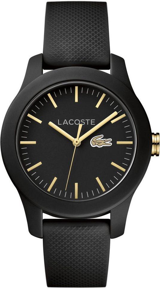 Lacoste Quarzuhr »LACOSTE.12.12 LADIES, 2000959« in schwarz
