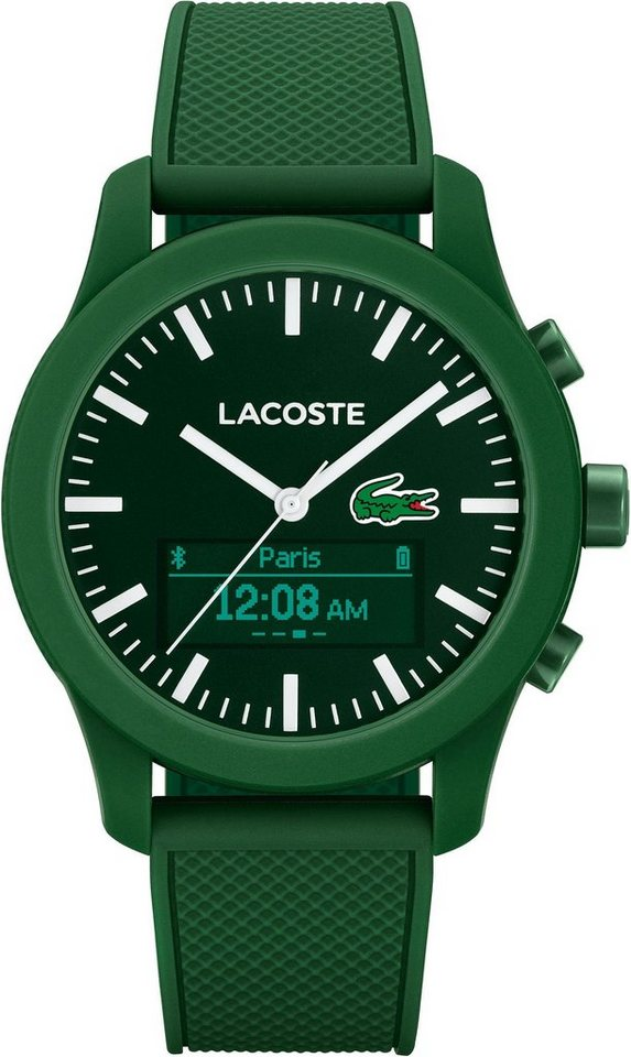 Lacoste Digitaluhr »LACOSTE.12.12 CONTACT, 2010883« in grün