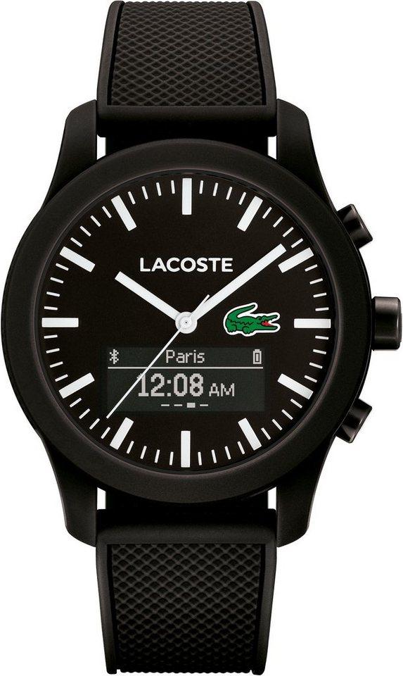 Lacoste Digitaluhr »LACOSTE.12.12 CONTACT, 2010881« in schwarz