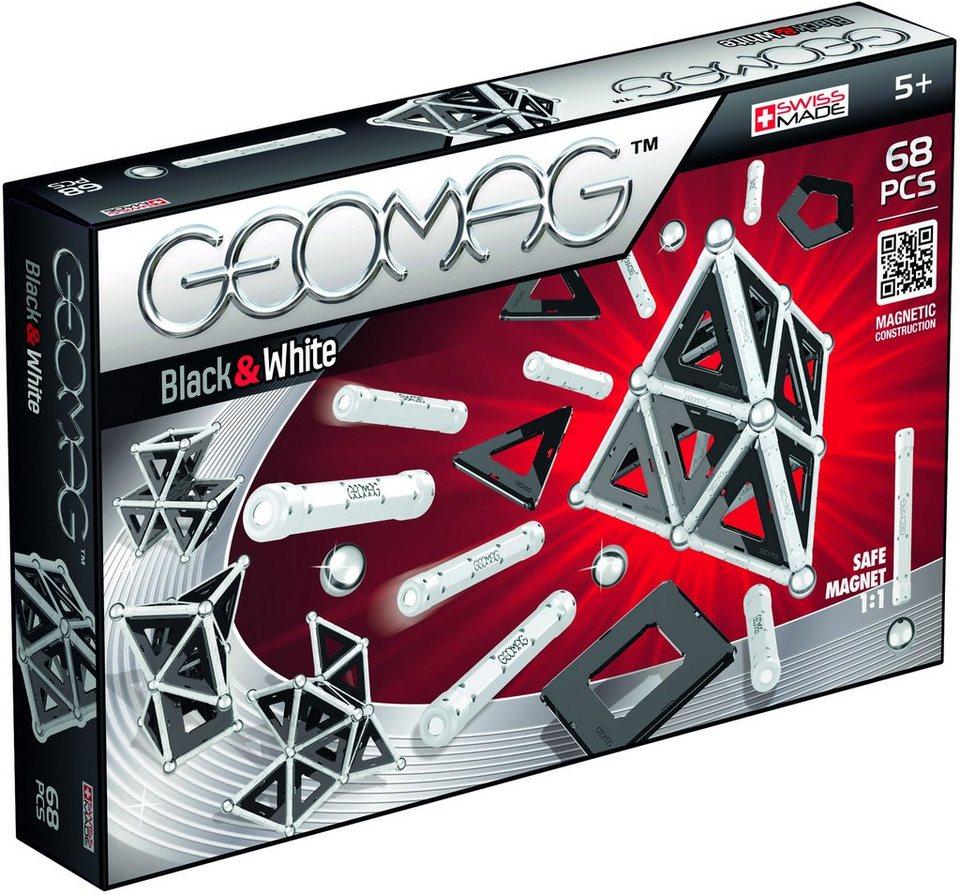 Geomag™ Konstruktionsspielzeug (68-tlg.), »Black & White«