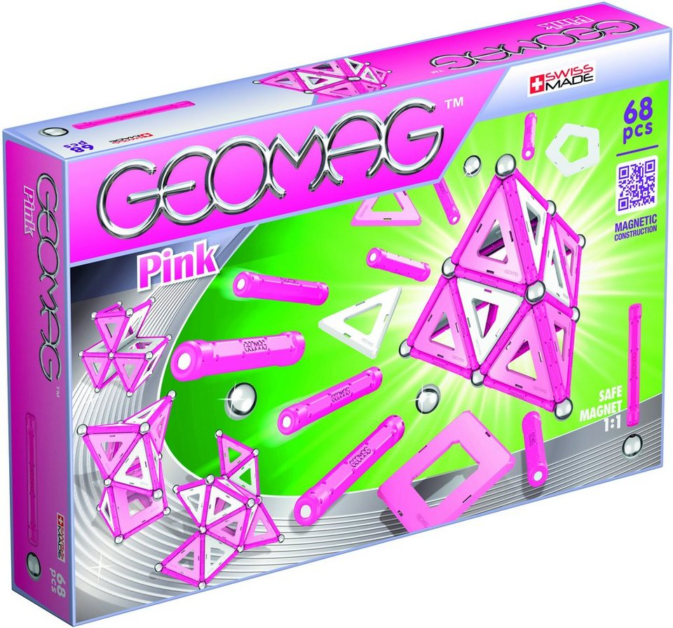Geomag™ Konstruktionsspielzeug (68-tlg.), »Pink«