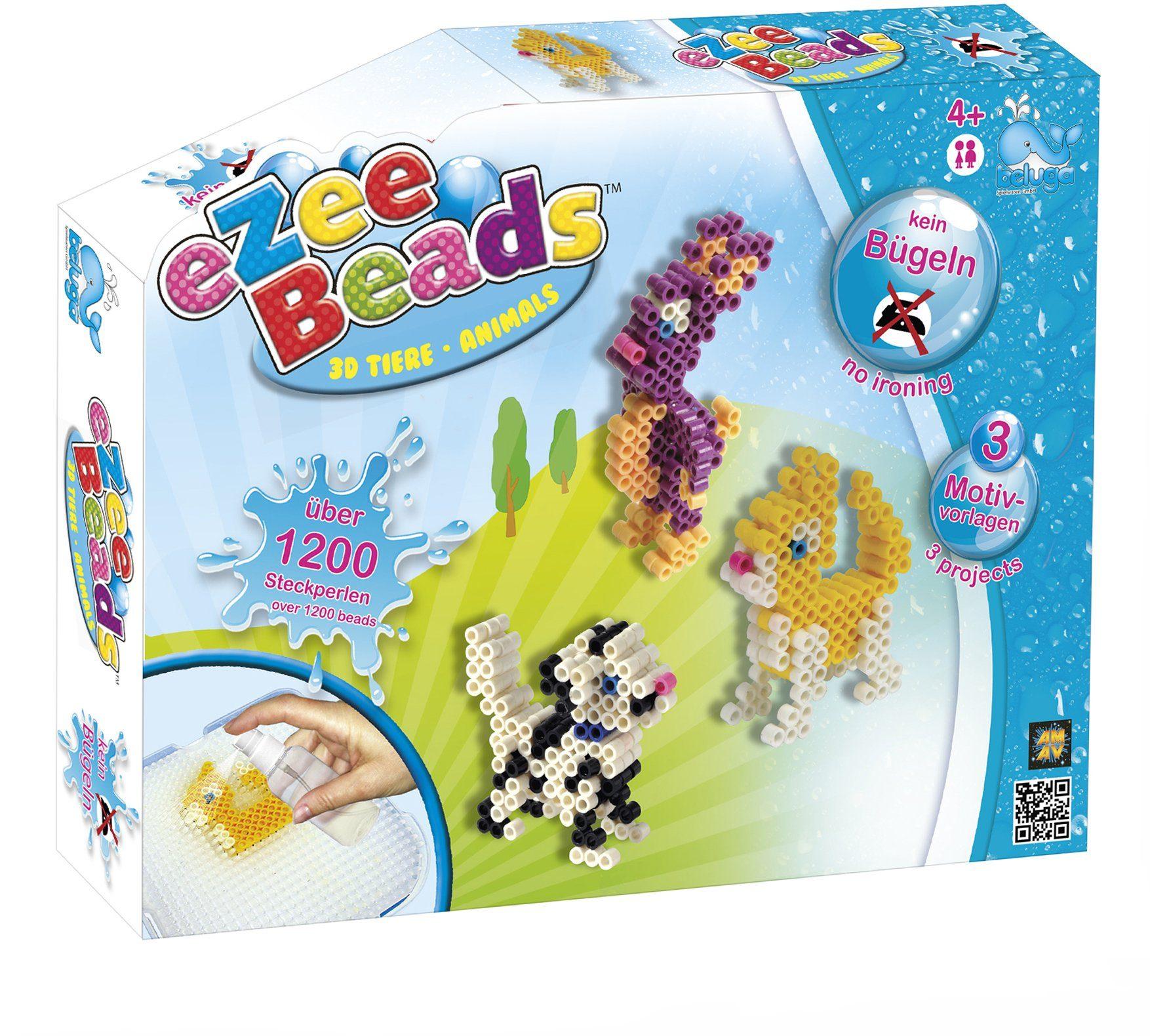 Beluga Steckperlen Set, »eZee Beads 3D Tiere«