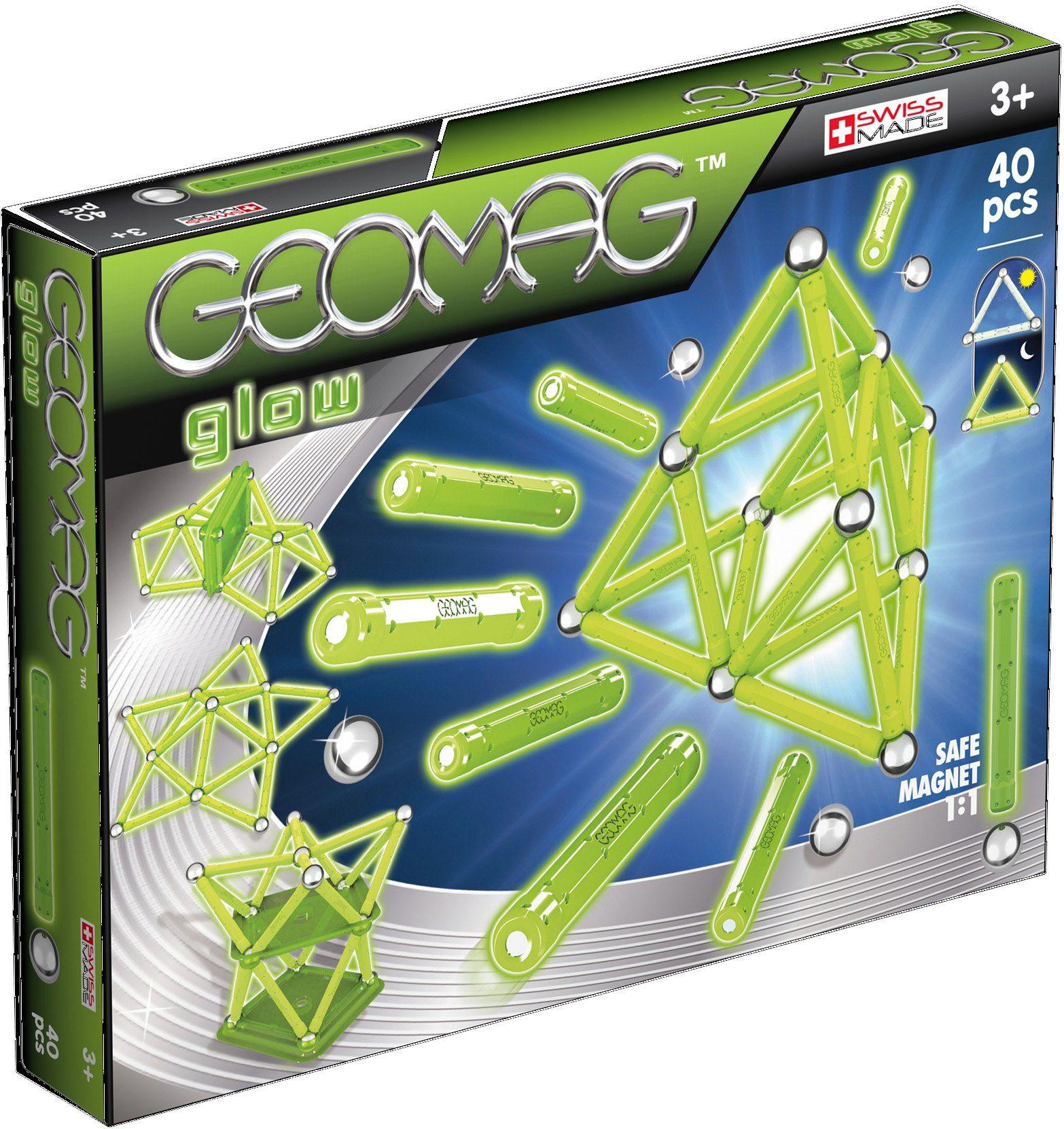 Geomag™ Konstruktionsspielzeug (40-tlg.), »Glow«