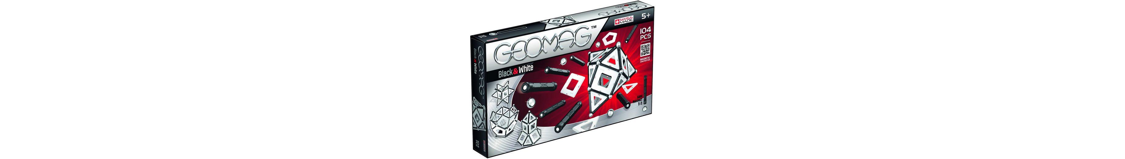 Geomag™ Konstruktionsspielzeug (104-tlg.), »Black & White«
