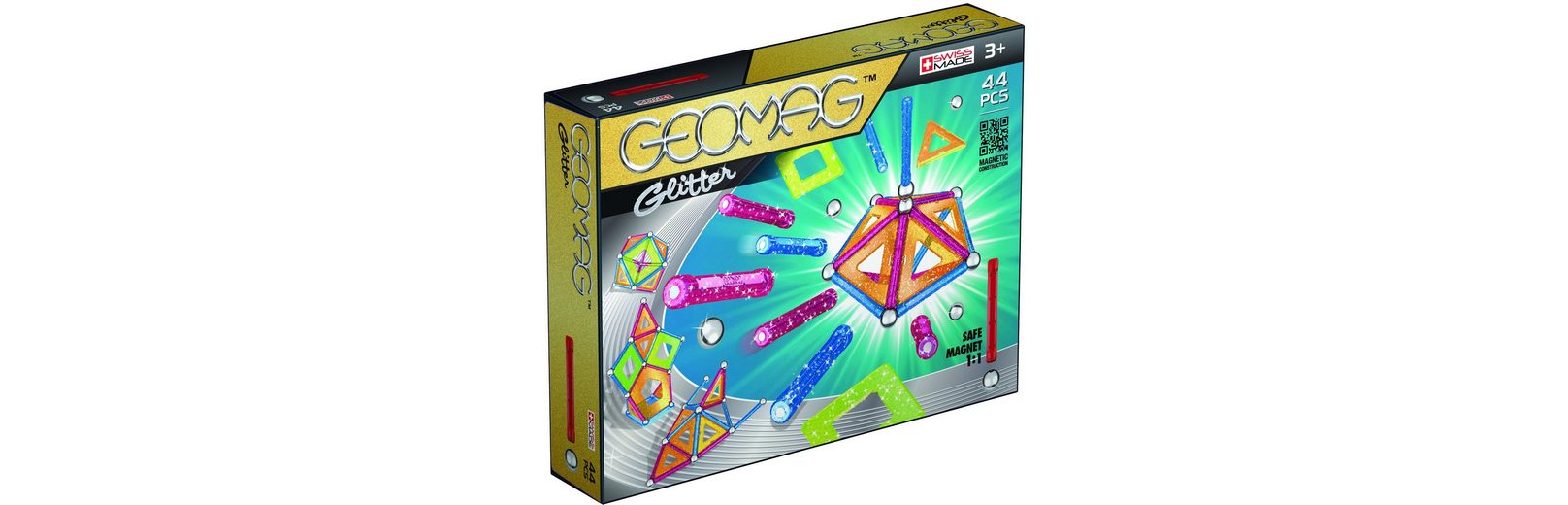 Geomag™ Konstruktionsspielzeug (44-tlg.), »Glitter«