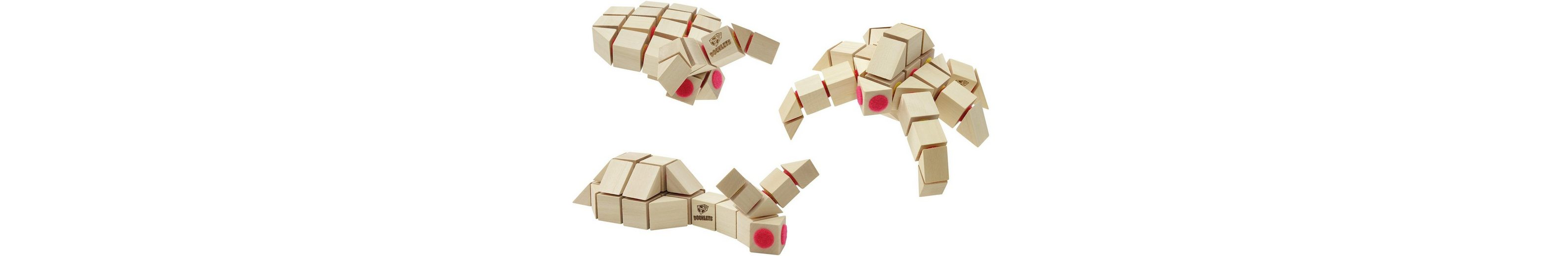 Holzbausteine mit Klettverbindung, »DOCKLETS® Creepy Crawlies Set«