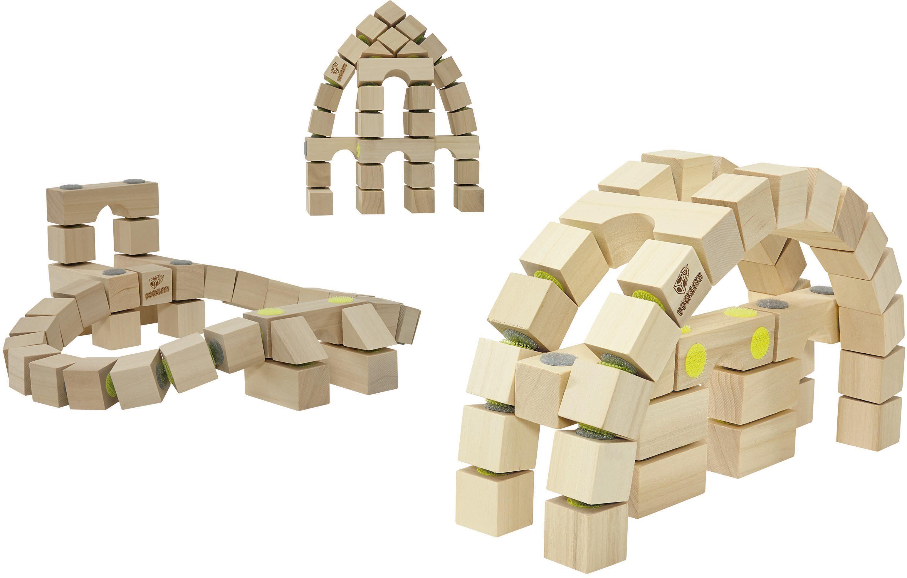 Holzbausteine mit Klettverbindung, »DOCKLETS® Architecture Set«