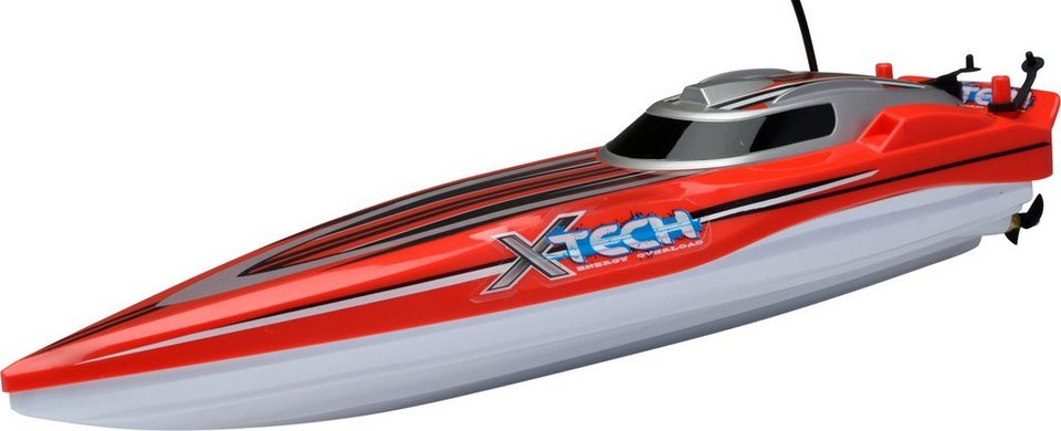 RC Komplett Set, »XQ Offshore Racing Boat 27 Mhz 1:28« in rot