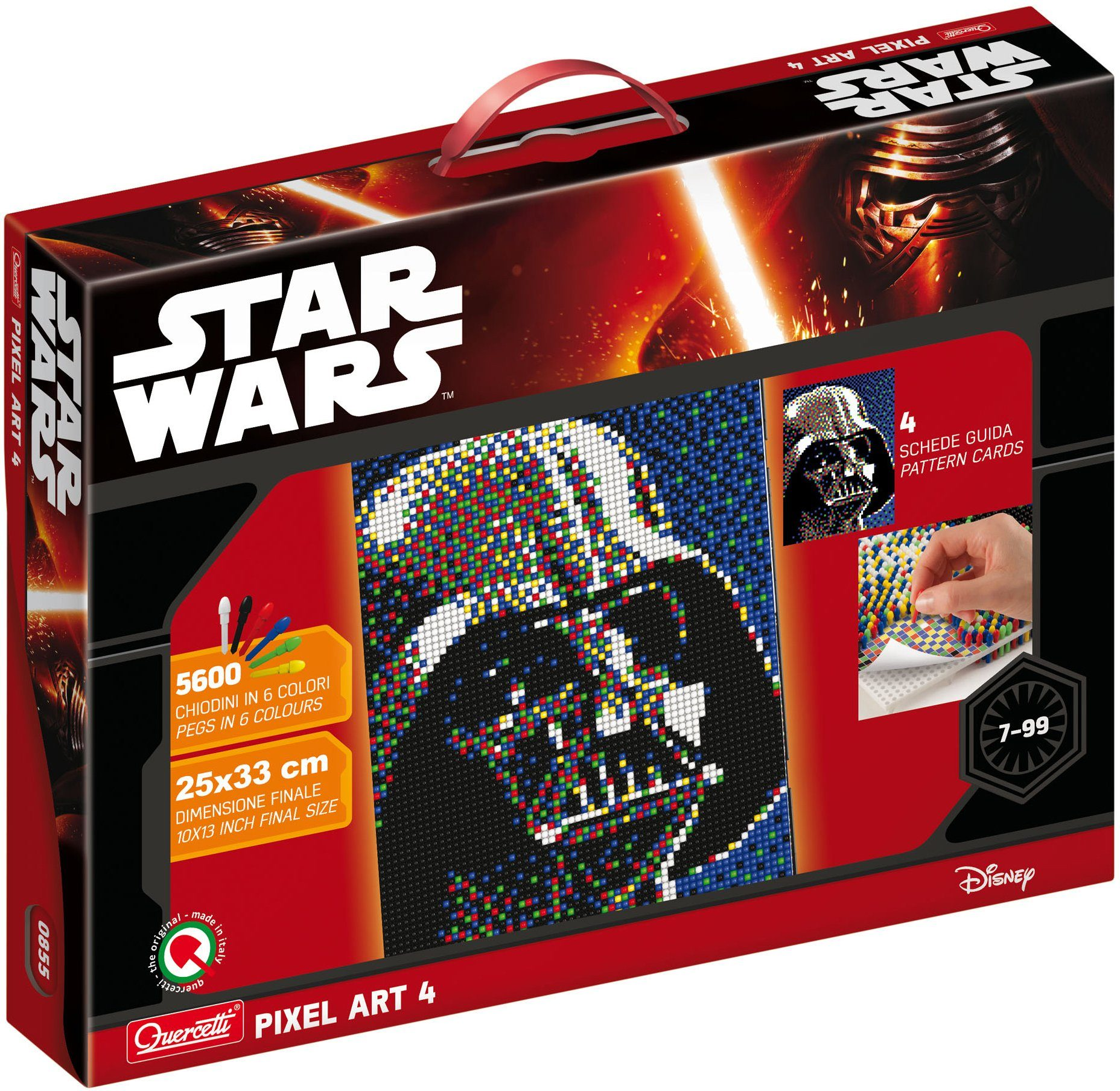 Steckset, »Quercetti Steckset Pixel Art, Disney Star Wars Darth Vader«