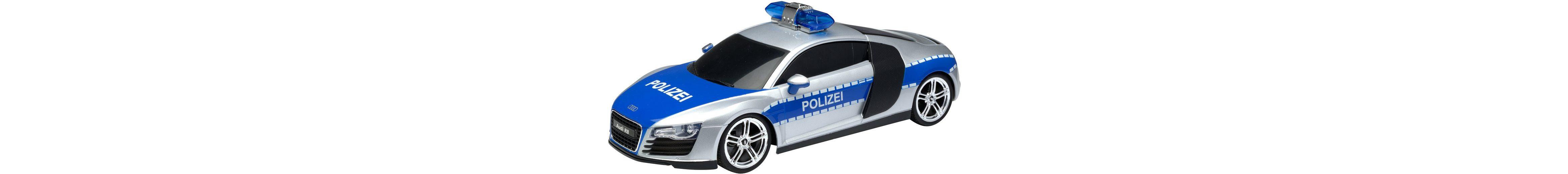 RC Komplett Set, »XQ Audi R8 Polizei 27 Mhz 1:18«