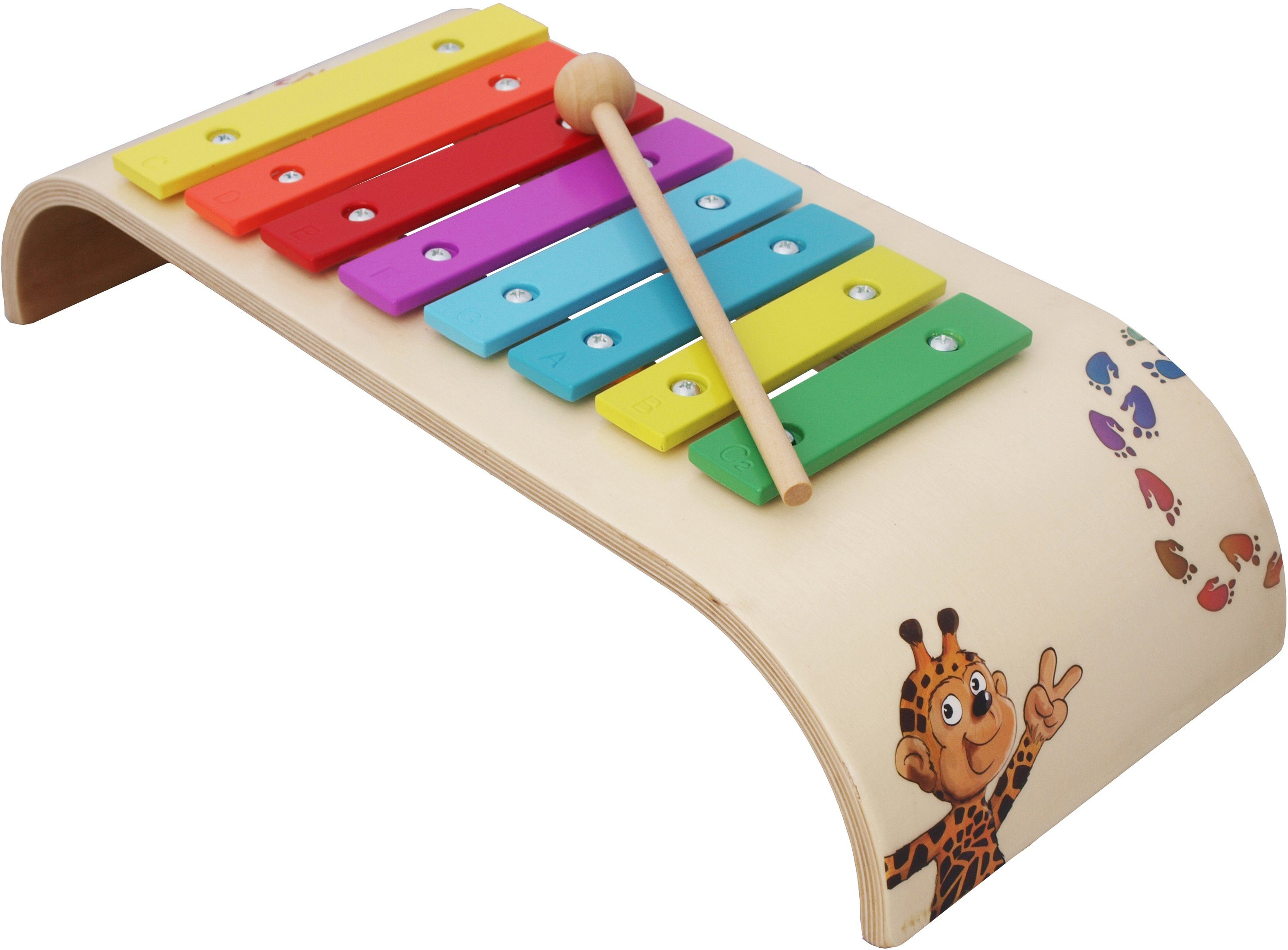 Beluga Kinder-Glockenspiel, »Giraffenaffen Xylophon«