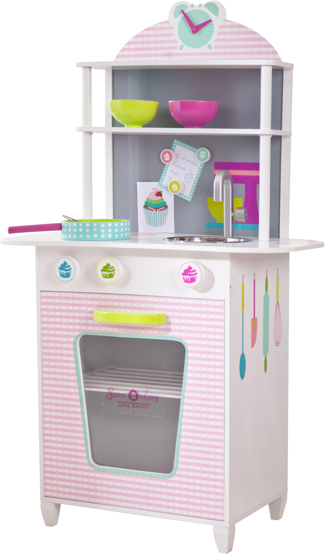Beluga Spielküche, »Sweet + Easy Holzküche rosa/weiss«