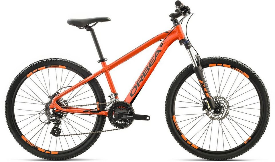 ORBEA Hardtail Mountainbike, 26 Zoll, 24 Gang Shimano Altus Kettenschaltung, »MX 26 XC« in orange-schwarz