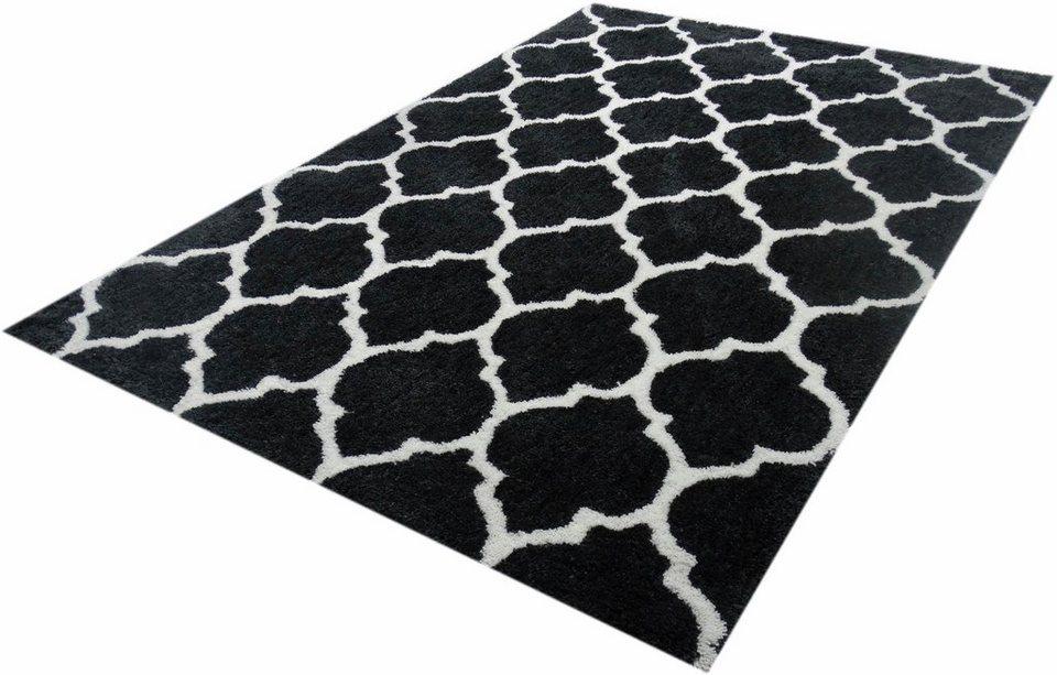 Hochflor-Teppich, Kayoom, »Effortless 260«, Höhe 25 mm, handgewebt in anthrazit