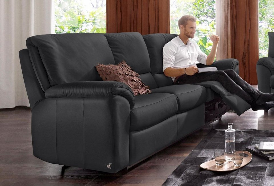 ledersofa schwarz 3 sitzer. Black Bedroom Furniture Sets. Home Design Ideas