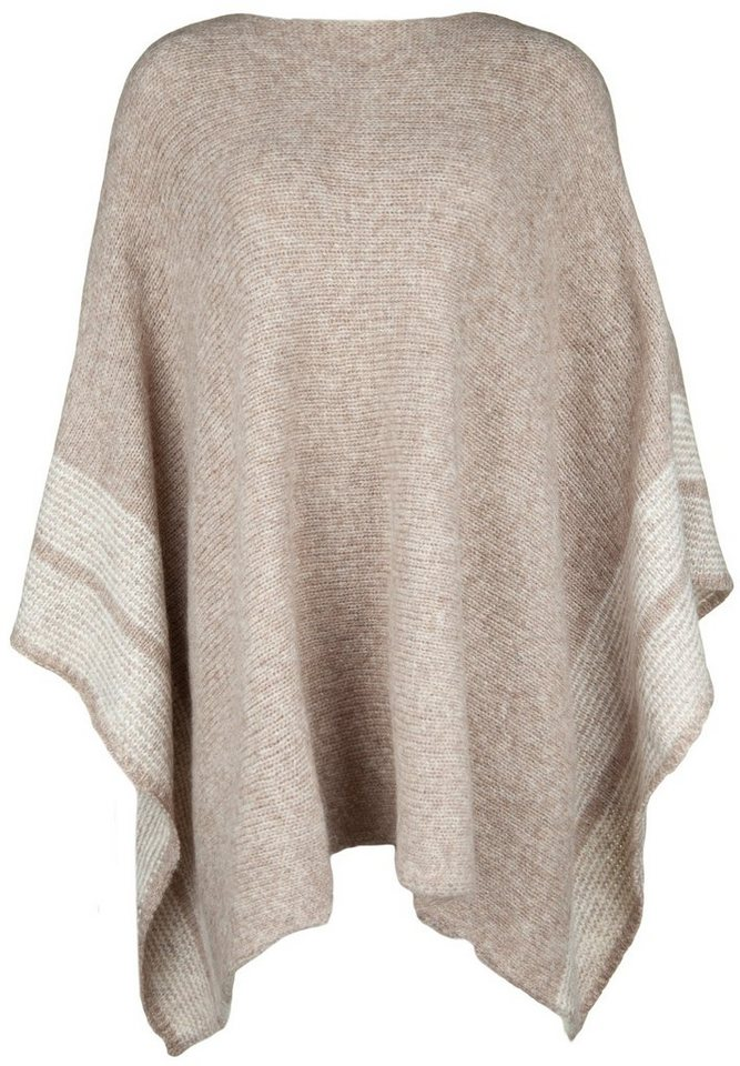 CP29 Poncho »NELE« in taupe mel