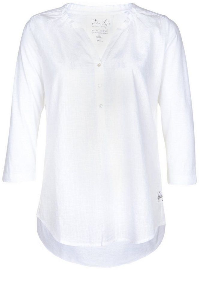 DAILY'S NOTHING'S BETTER Tunikashirt »FANNY« in bright white