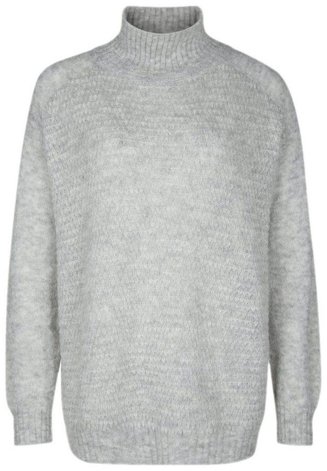 Better Rich Strickpullover »FUNNEL NECK« in light gray