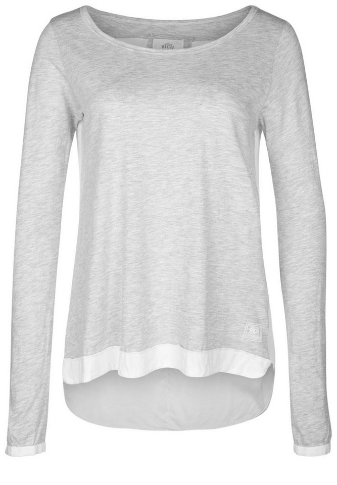 Better Rich Longsleeve »MIX VOILE« in gray marl