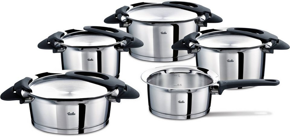 fissler topf set edelstahl induktion intensa 9tlg online kaufen otto. Black Bedroom Furniture Sets. Home Design Ideas
