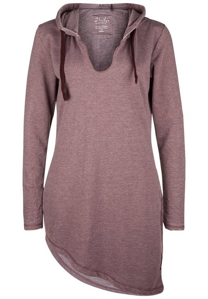 DAILY'S NOTHING'S BETTER Long Hoody »HENRIQUA« in grape