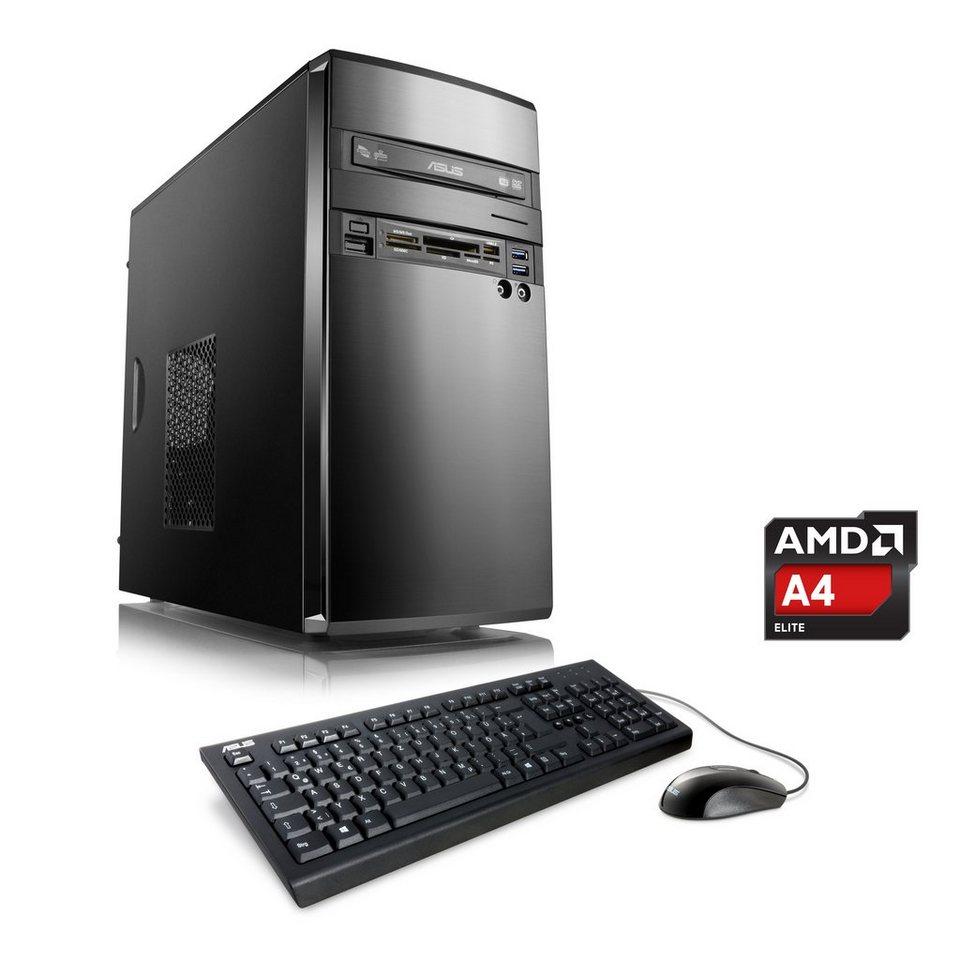 CSL Office PC   AMD A4-5300   AMD Radeon HD 7480D   8 GB RAM   WLAN »Sprint T2825 Windows 10 Home« in schwarz