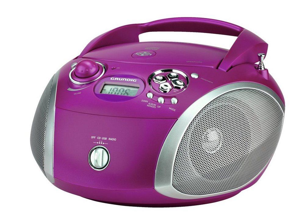 Grundig Radio mit CD-Player und MP3/WMA-Wiedergabe »RCD 1445« in Purple/Silber