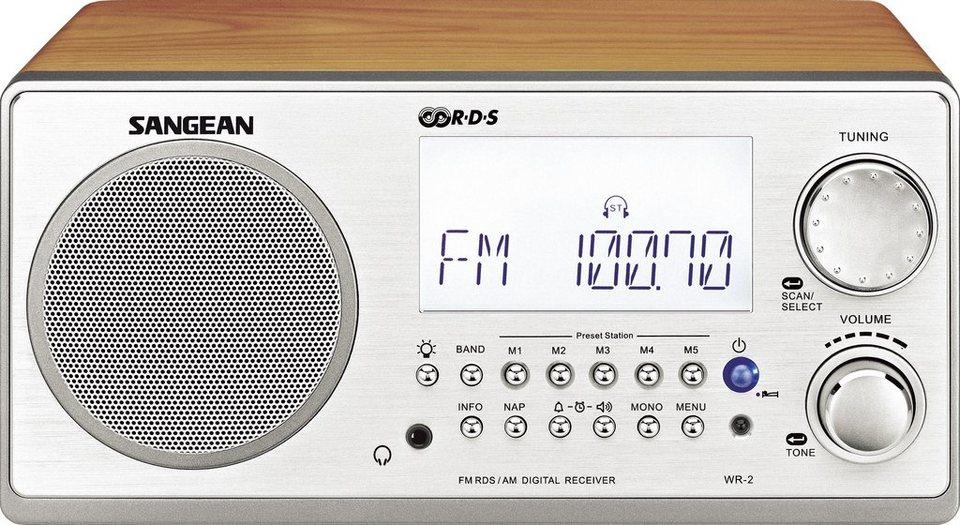 Sangean Desktop-Radio im eleganten Holzgehäuse »WR-2« in Braun