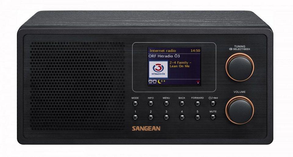 Sangean Internetradio (DAB+/UKW, WLAN, Spotify, MP3, AUX-In) »WFR-30« in Schwarz