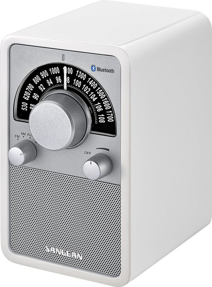Sangean Bluetooth-Radio (NFC, UKW/MW, AUX-In) »WR-15BT weiß« in Weiß
