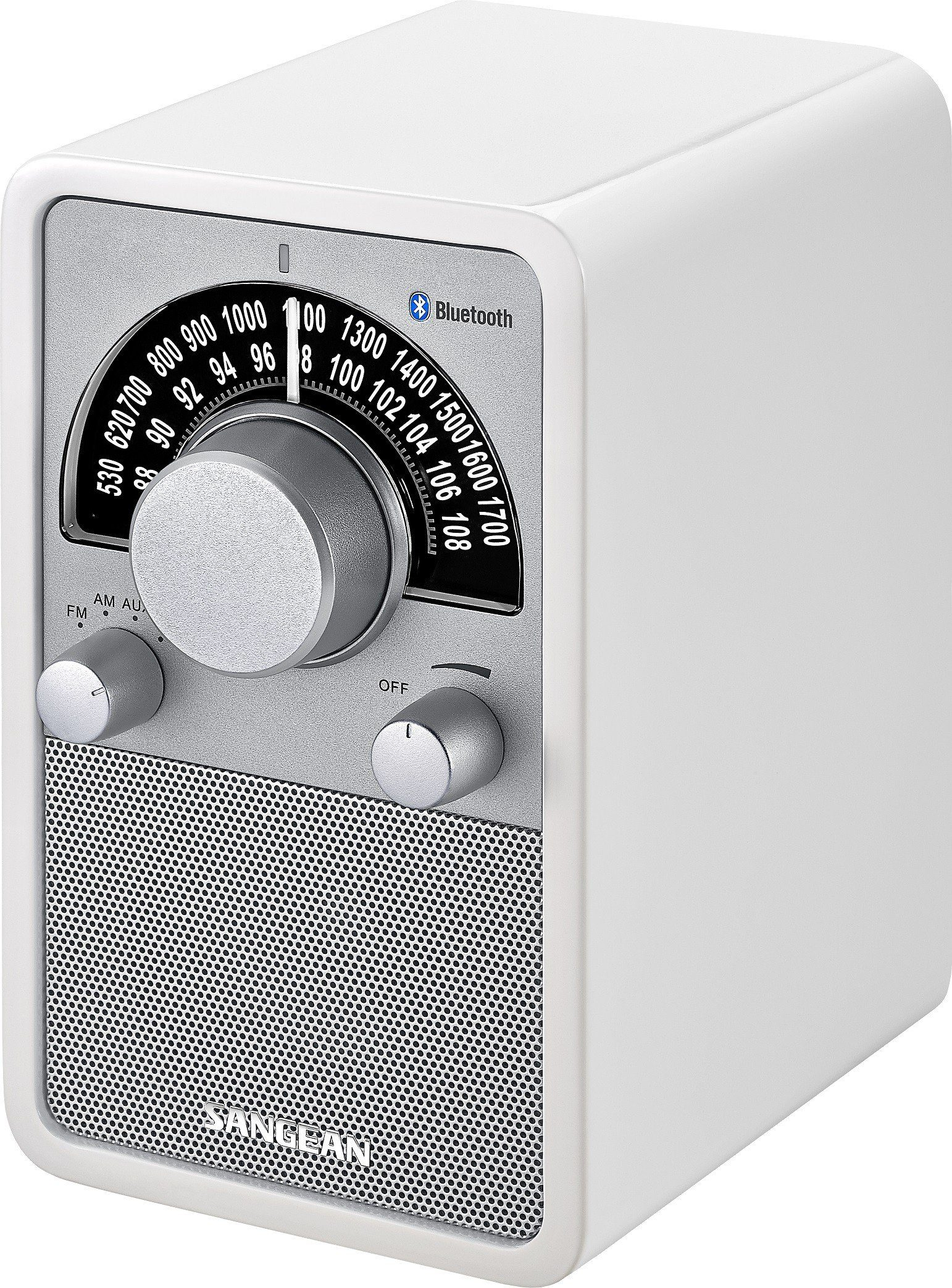Sangean Bluetooth-Radio (NFC, UKW/MW, AUX-In) »WR-15BT weiß«