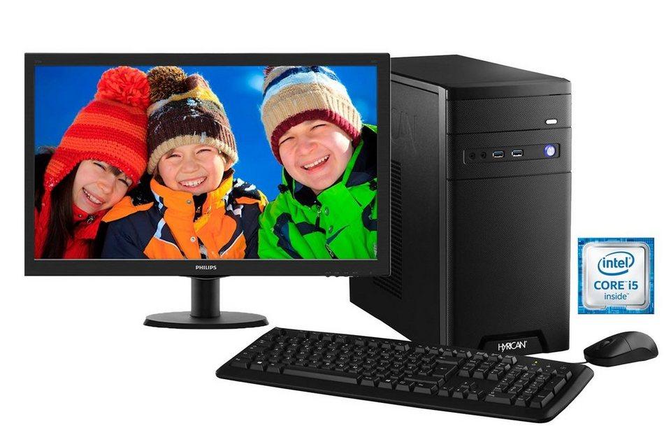 Hyrican Gaming PC Intel® i5-6400, Windows 10 + Monitor »Cyber Gamer SET01102«