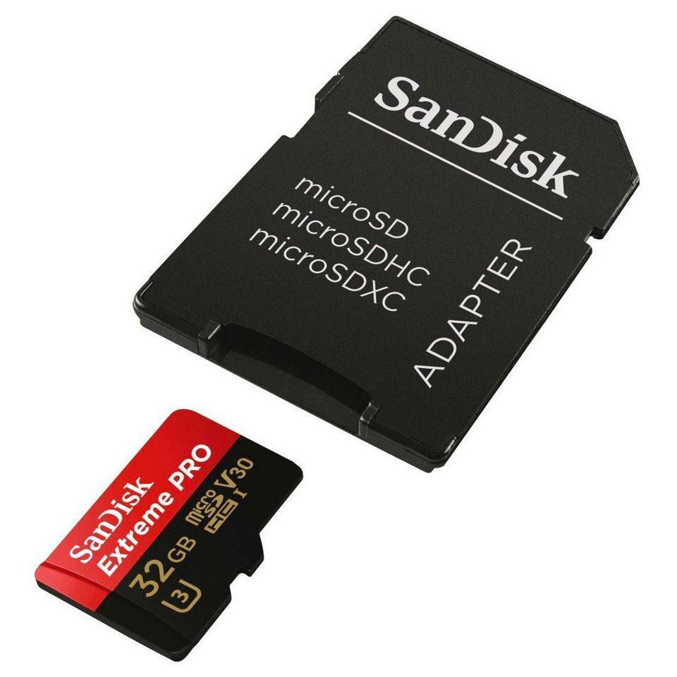 SanDisk microSDHC Speicherkarte Extreme Pro, 32 GB, V30, UHS-I, 95MB/s