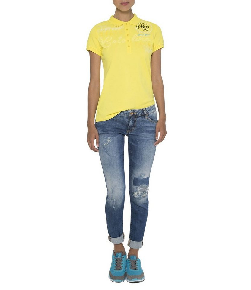 SOCCX Poloshirt in gelb