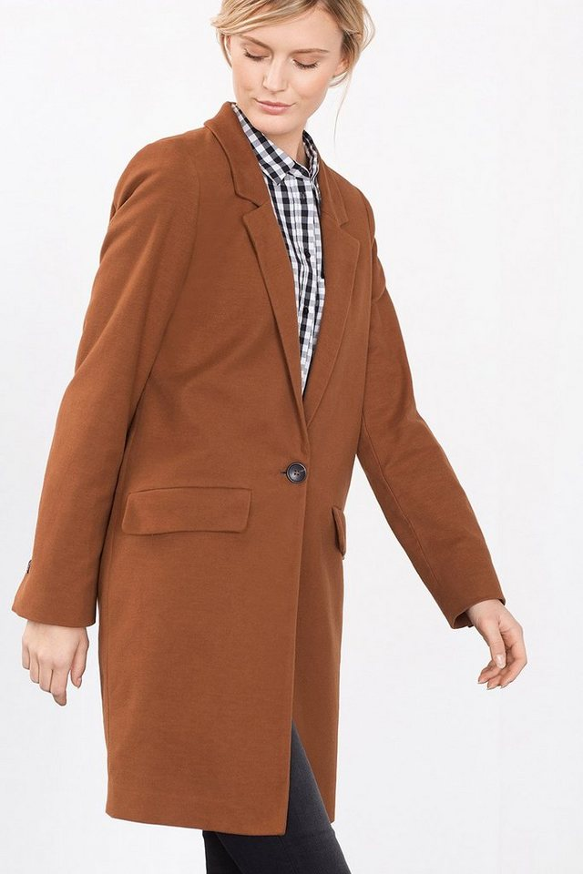 ESPRIT CASUAL Long-Blazer aus Baumwolle/Stretch in RUST BROWN