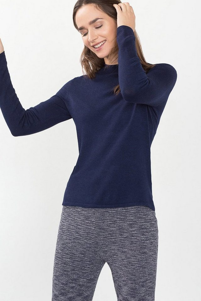 ESPRIT CASUAL Seidig-weicher Turtleneck-Pulli in NAVY