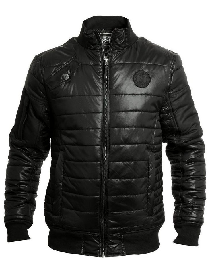 CROSSHATCH Winterjacke »Chesney« in schwarz