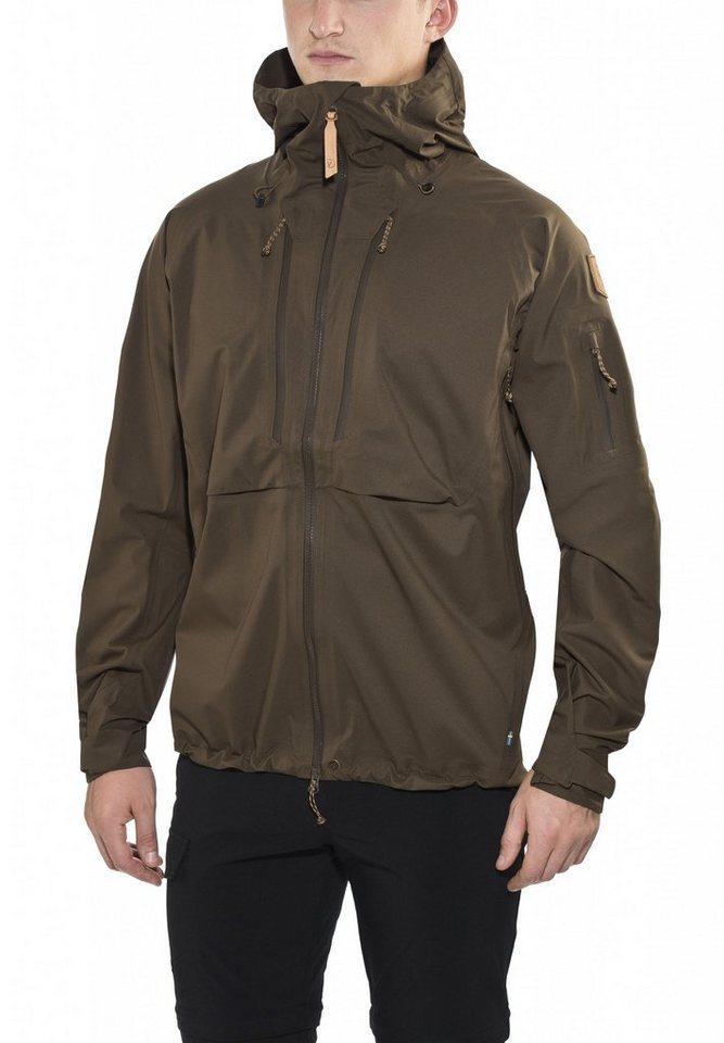 Fjällräven Regenjacke »Keb Eco-Shell Jacket Men« in oliv