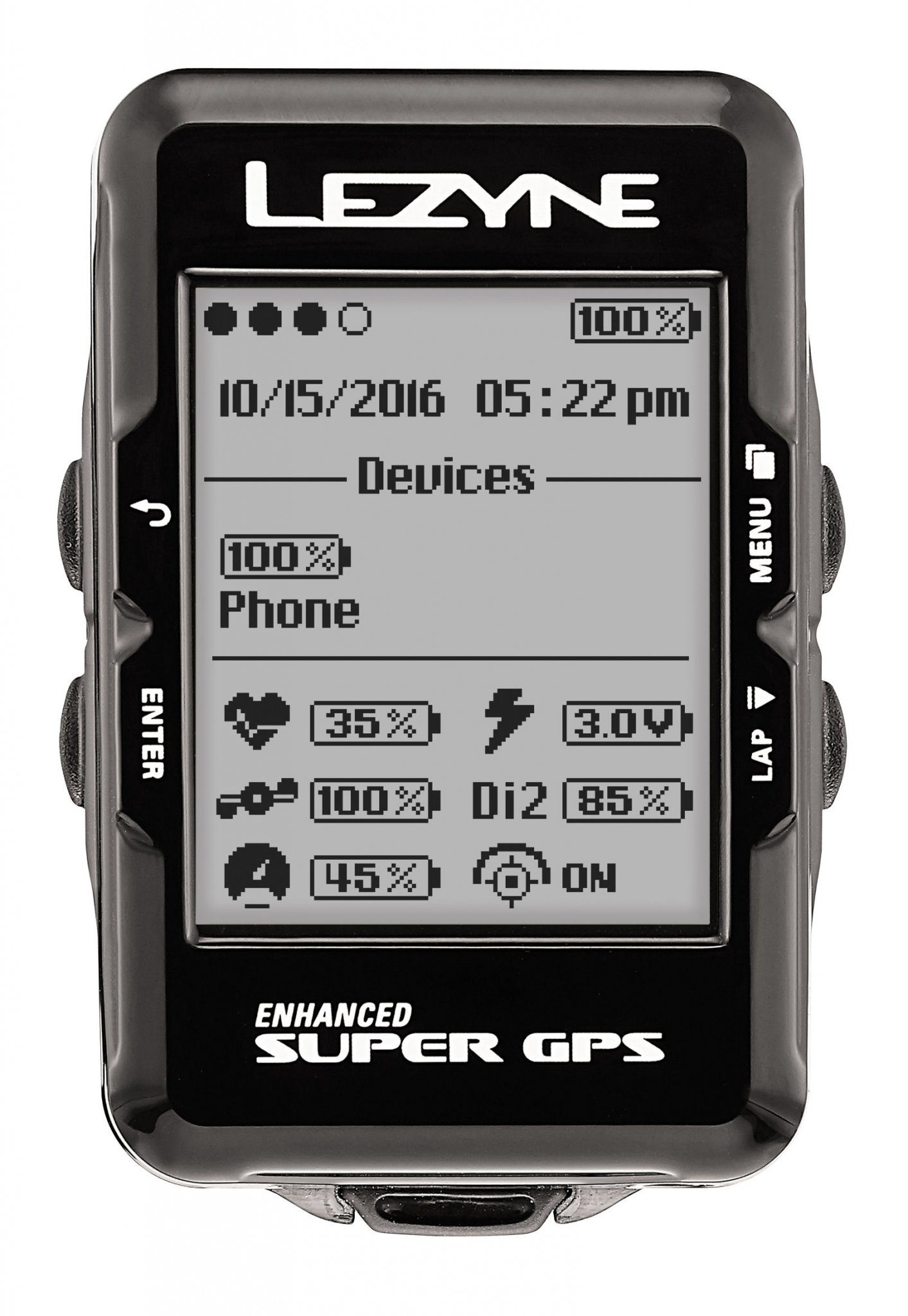 Lezyne Fahrradcomputer »Super GPS Fahrradcomputer mit«