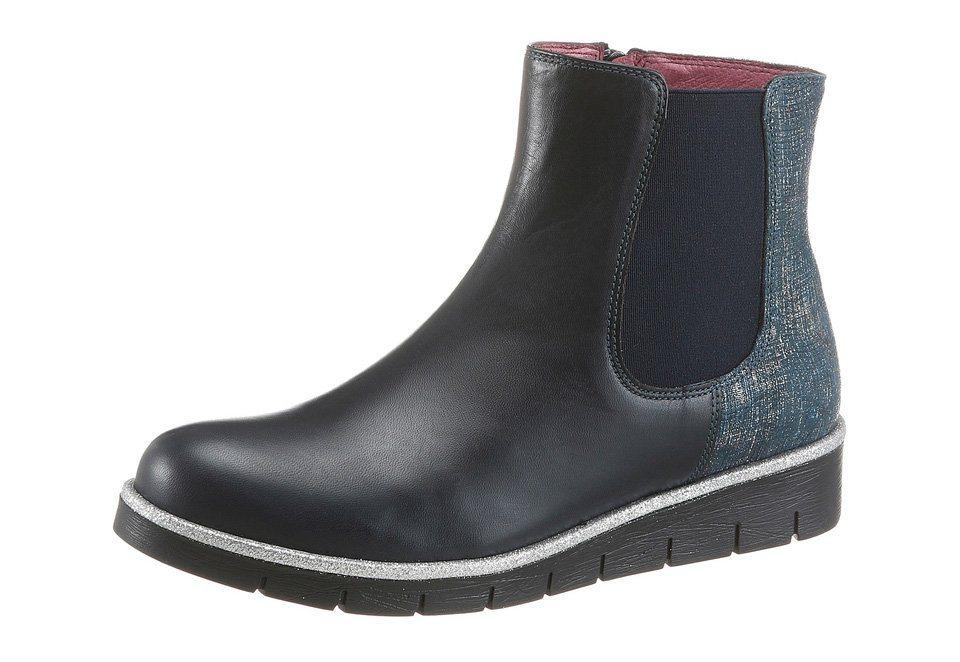 JJ Footwear Chelseaboots mit Stretcheinsatz in dunkelblau