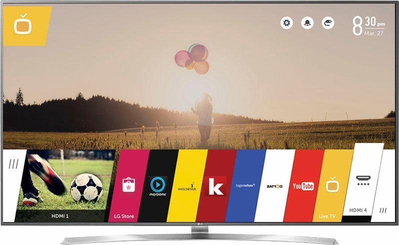 LG 75UH780V, LED Fernseher, 190 cm (75 Zoll), 2160p (4K Ultra HD), Smart-TV in silberfarben