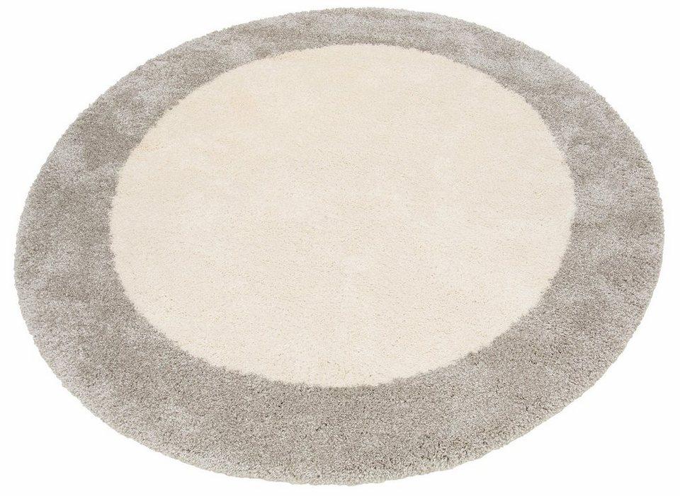 hochflor teppich adele home affaire rund h he 40 mm gewebt online kaufen otto. Black Bedroom Furniture Sets. Home Design Ideas