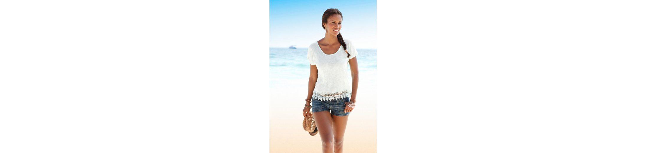 LASCANA Strandpullover mit Spitze Auslass Zahlung Mit Visa Footlocker Finish Günstig Online Billig Billig Neueste ktZso